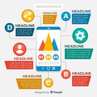 Kleurrijke infographics sjabloon
