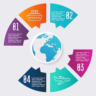 Kleurrijke informatiegrafiek voor uw bedrijfspresentaties.