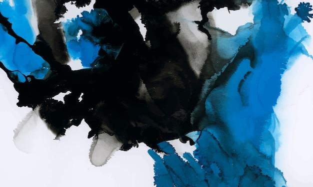 Kleurrijke inkt aquarel gestructureerde achtergrond