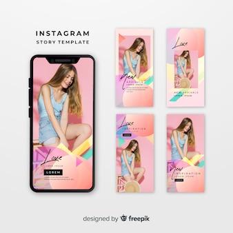 Kleurrijke instagram sjablonen