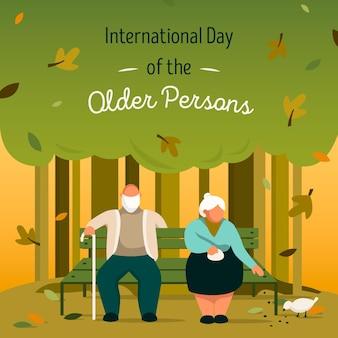 Kleurrijke internationale dag van de ouderen
