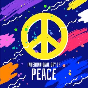 Kleurrijke internationale dag van de vrede