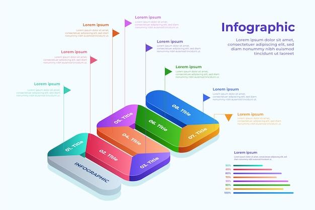 Kleurrijke isometrische infographic