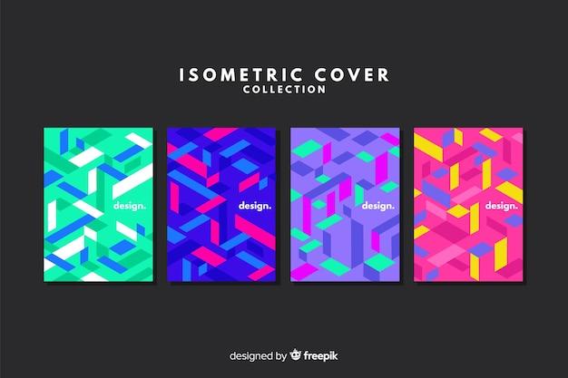 Kleurrijke isometrische stijl cover collectie