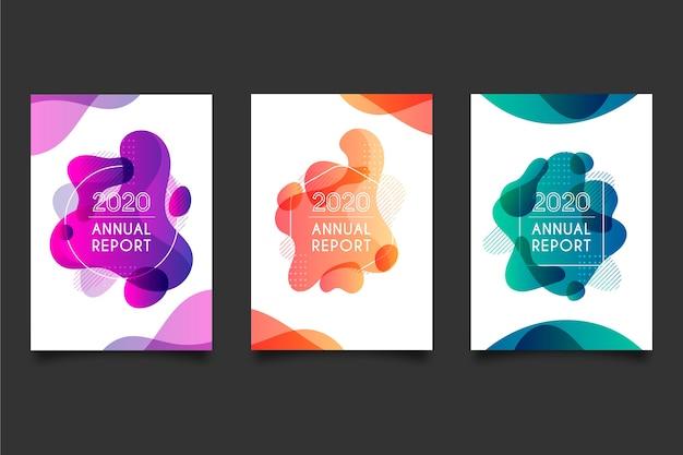 Kleurrijke jaarverslagsjabloon