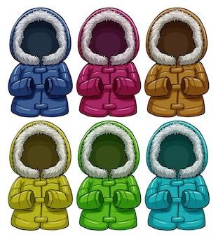 Kleurrijke jassen