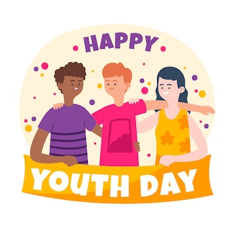 Kleurrijke jeugddag concept