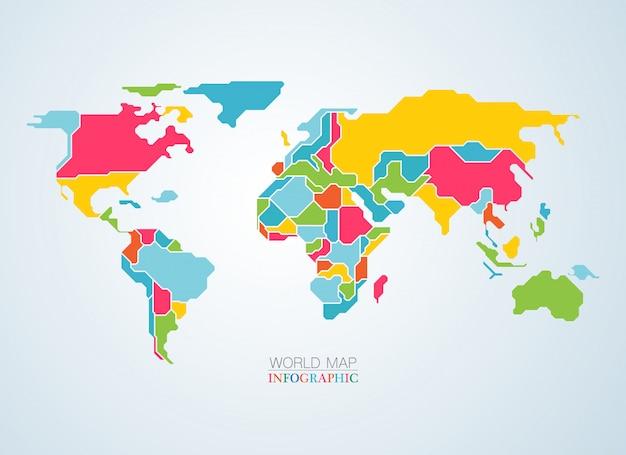 Kleurrijke kaart