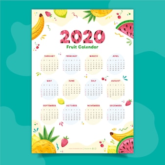 Kleurrijke kalender 2020