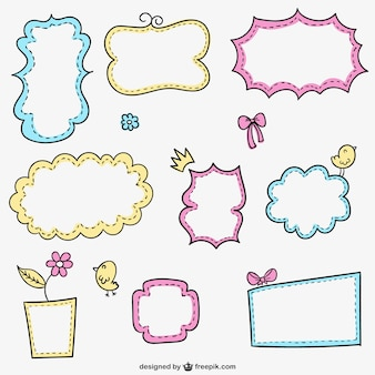 Kleurrijke kalligrafische frames