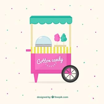 Kleurrijke katoen candy cart