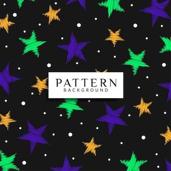 Kleurrijke kattebelletje ster patroon achtergrond