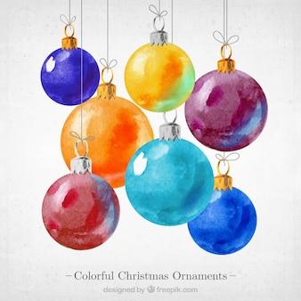 Kleurrijke kerst ornamenten