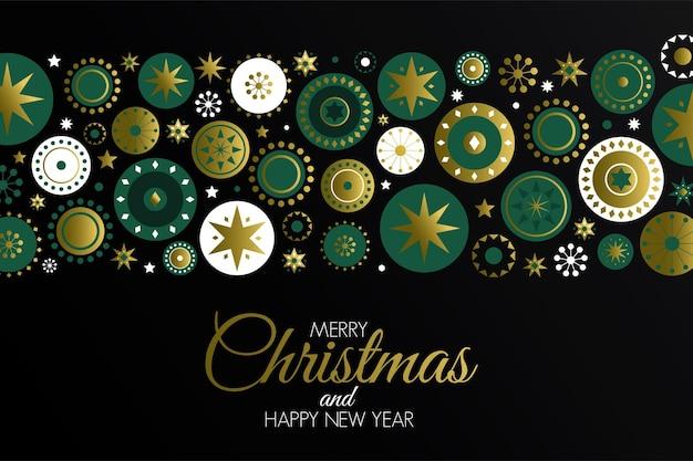 Kleurrijke kerstkaart gemaakt in traditionele scandinavische decoratiestijl. feestaffiche, wenskaart, spandoek of uitnodiging.