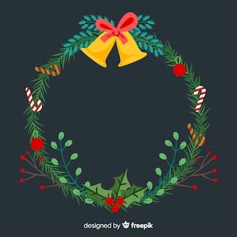 Kleurrijke kerstkrans