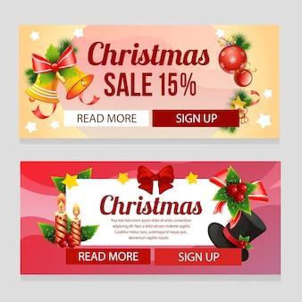 Kleurrijke kerstmis met kerstmisdecoratie