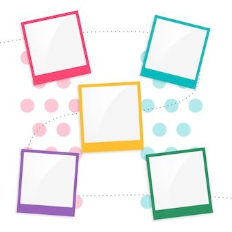 Kleurrijke kinderen plakboek paginasjabloon