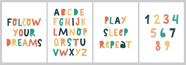 Kleurrijke kinderkamerafdrukken en posters