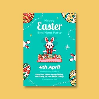 Kleurrijke kinderlijke pasen-poster
