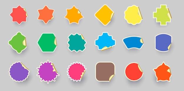 Kleurrijke kleur sticker label collectie.