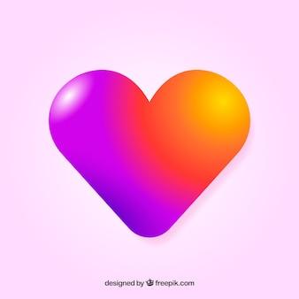 Kleurrijke kleurovergang hart achtergrond