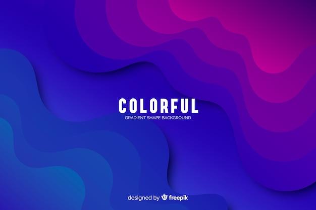 Kleurrijke kleurovergang vormen achtergrond