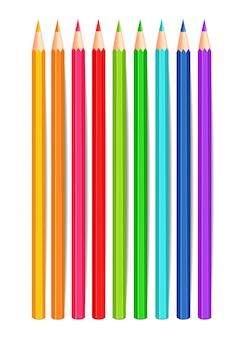 Kleurrijke kleurpotloden Premium Vector