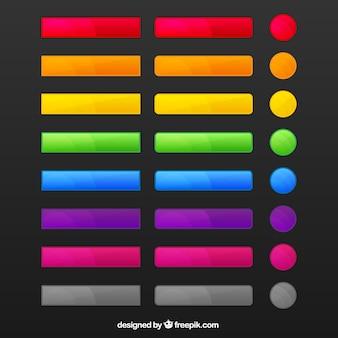 Kleurrijke knoppen voor het web