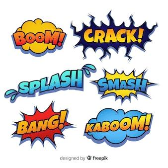 Kleurrijke komische tekstballonnen