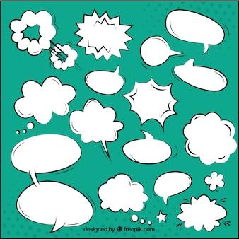 Kleurrijke komische toespraak bubbels
