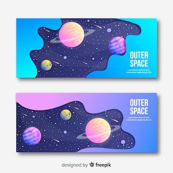 Kleurrijke kosmische ruimtevaandel