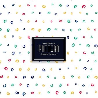 Kleurrijke krul vector patroon achtergrond