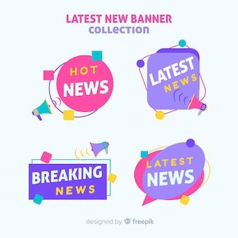 Kleurrijke laatste nieuws banners-collectie