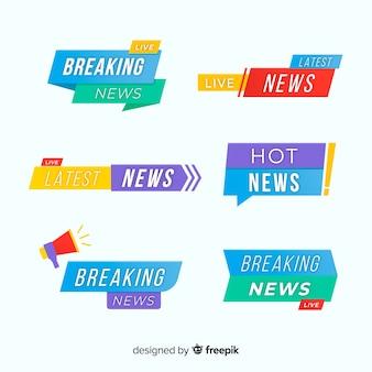 Kleurrijke laatste nieuwsbanners