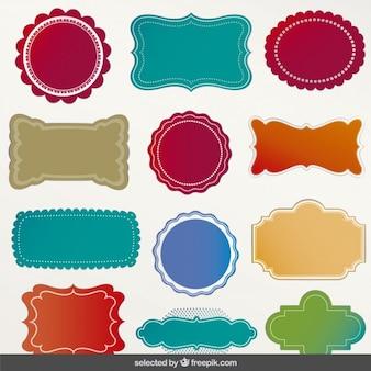 Kleurrijke labels collectie