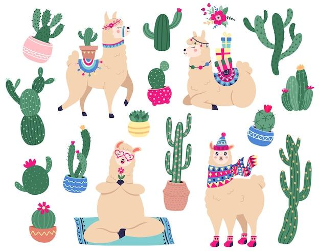 Kleurrijke lama's achtergrond