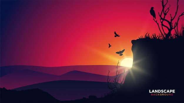 Kleurrijke landschapsachtergrond