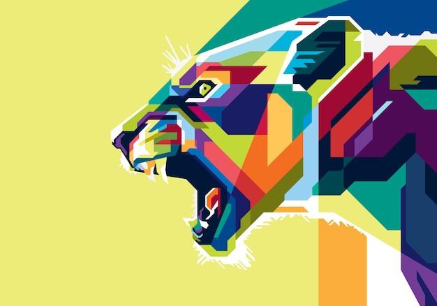 Kleurrijke leeuw