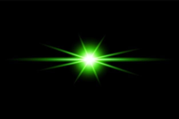 Kleurrijke lensflare-collectie premium transparante eps
