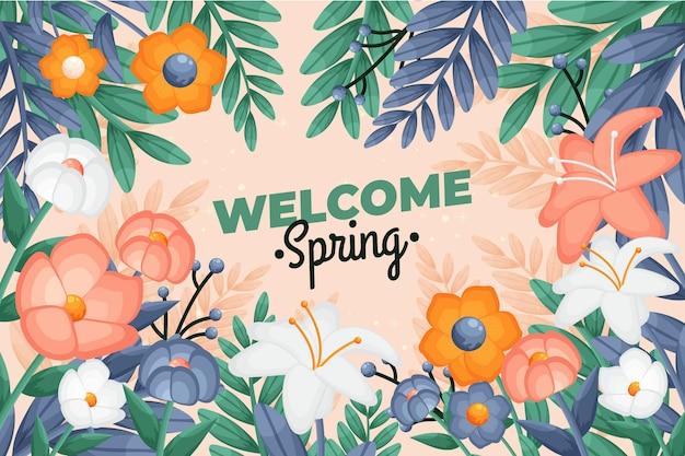Kleurrijke lente achtergrond
