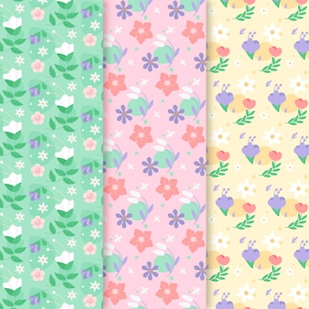 Kleurrijke lente patroon pack