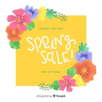Kleurrijke lente verkoop achtergrond