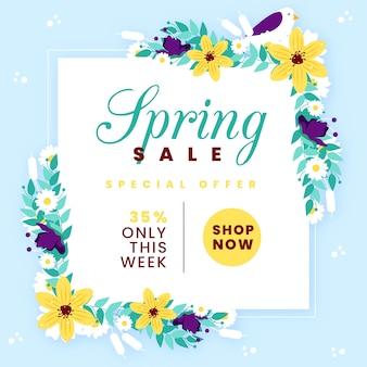 Kleurrijke lente verkoop concept
