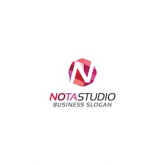 Kleurrijke letter n logo