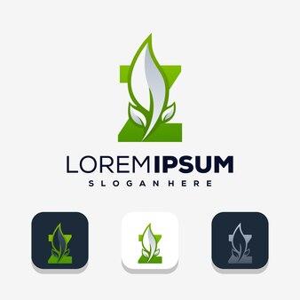 Kleurrijke letter z met leafe logo-ontwerp