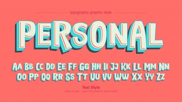 Kleurrijke leuke blauwe witte vette typografie