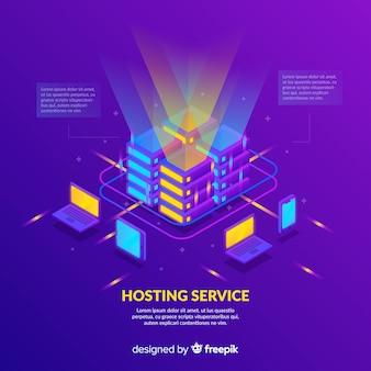 Kleurrijke lichten hosting service achtergrond