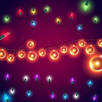 Kleurrijke lichtenachtergrond