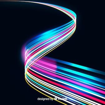 Kleurrijke lichtsleepachtergrond
