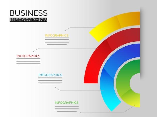 Kleurrijke lijnen infographic vectorillustratie